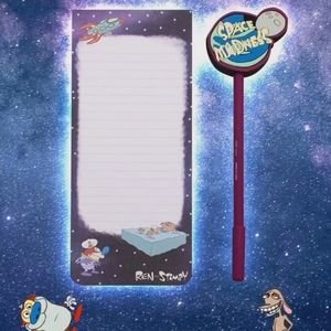 Ren and Stimpy space madness pen and notebad with